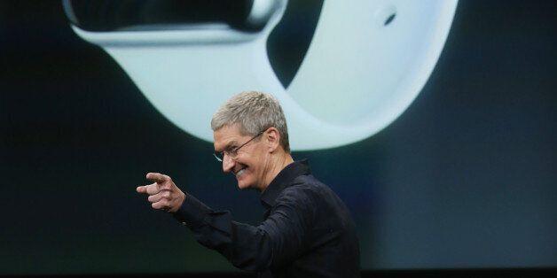 애플워치 발표 이벤트를 준비하는 현장