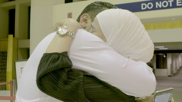 After 3 flights from Turkey to Germany, to Washington D.C. and then finally Arizona, Asmaa Al Arbaiin was finally reunited with her husband, Ramez Alghazzouli.