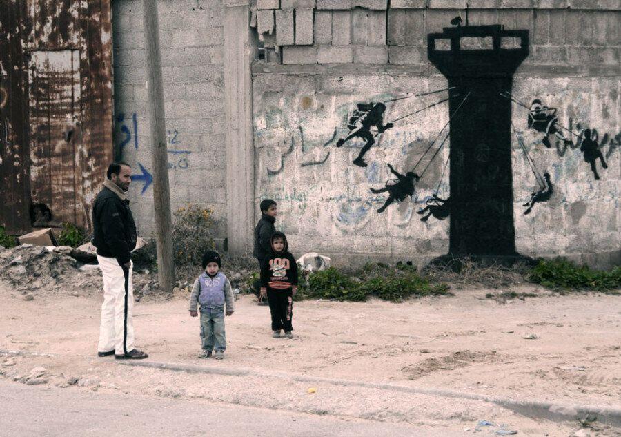 뱅크시가 가자(Gaza)에서 전해 온 메시지(사진,