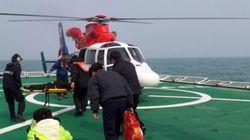 신안 가거도 해상, 4명 탑승한 응급헬기