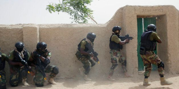 Nigerian special forces participate in an hostage rescue exercise at the end of the Flintlock exercise...