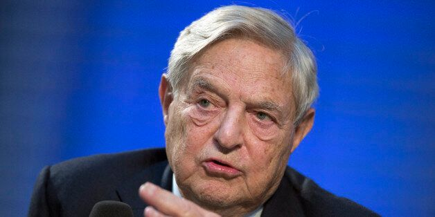 Soros Fund Management Chairman George Soros speaks during a panel discussion at the Nicolas Berggruen...