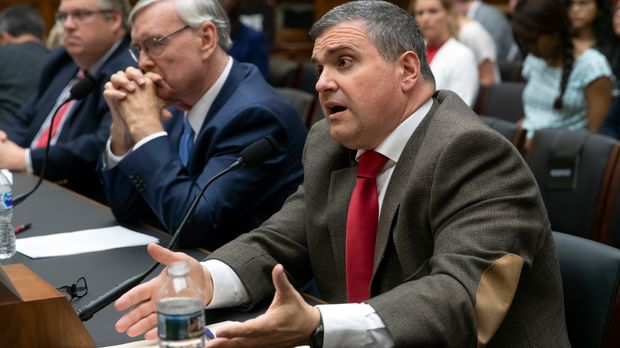 From right to left, Steven Camarota, director of research for the Center for Immigration Studies, Steve Murdock, a former director of the U.S. Census Bureau, and J. Christian Adams, president of the Public Interest Legal Foundation, appear before the House Judiciary Subcommittee on the Constitution and Civil Justice to discuss the Trump Administration's plan to add citizenship questions to the 2020 census, on Capitol Hill in Washington, Friday, June 8, 2018. (AP Photo/J. Scott Applewhite)