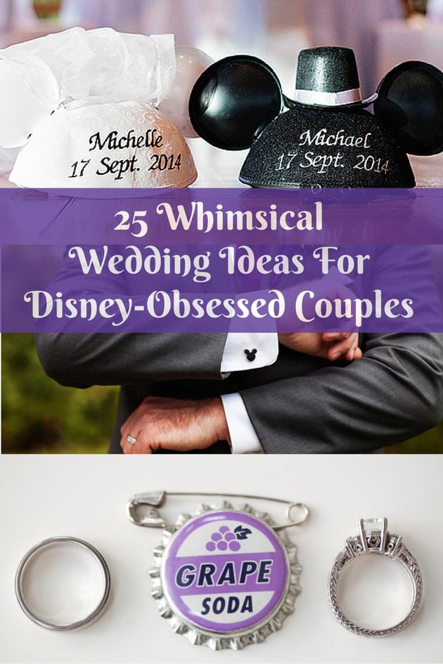 디즈니 애니메이션 팬을 위한 결혼식 아이디어