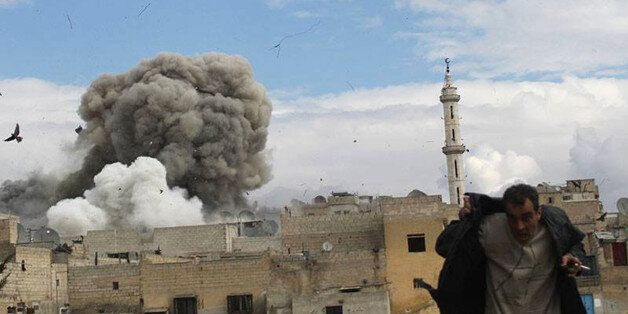 FILE -- In this February 27, 2014, file photo, provided by the anti-government activist group Aleppo...
