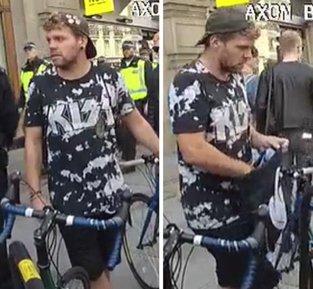 Manhunt After Assault On Police Officer At Tommy Robinson Demo