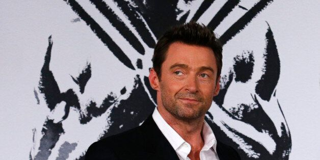 Hugh Jackman poses during the Japan premiere of his