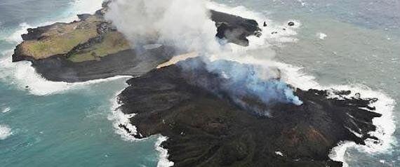 화산폭발로 생긴 일본섬, 16개월째 커져 도쿄돔