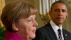 오바마-메르켈, 우크라이나 해법 미묘한