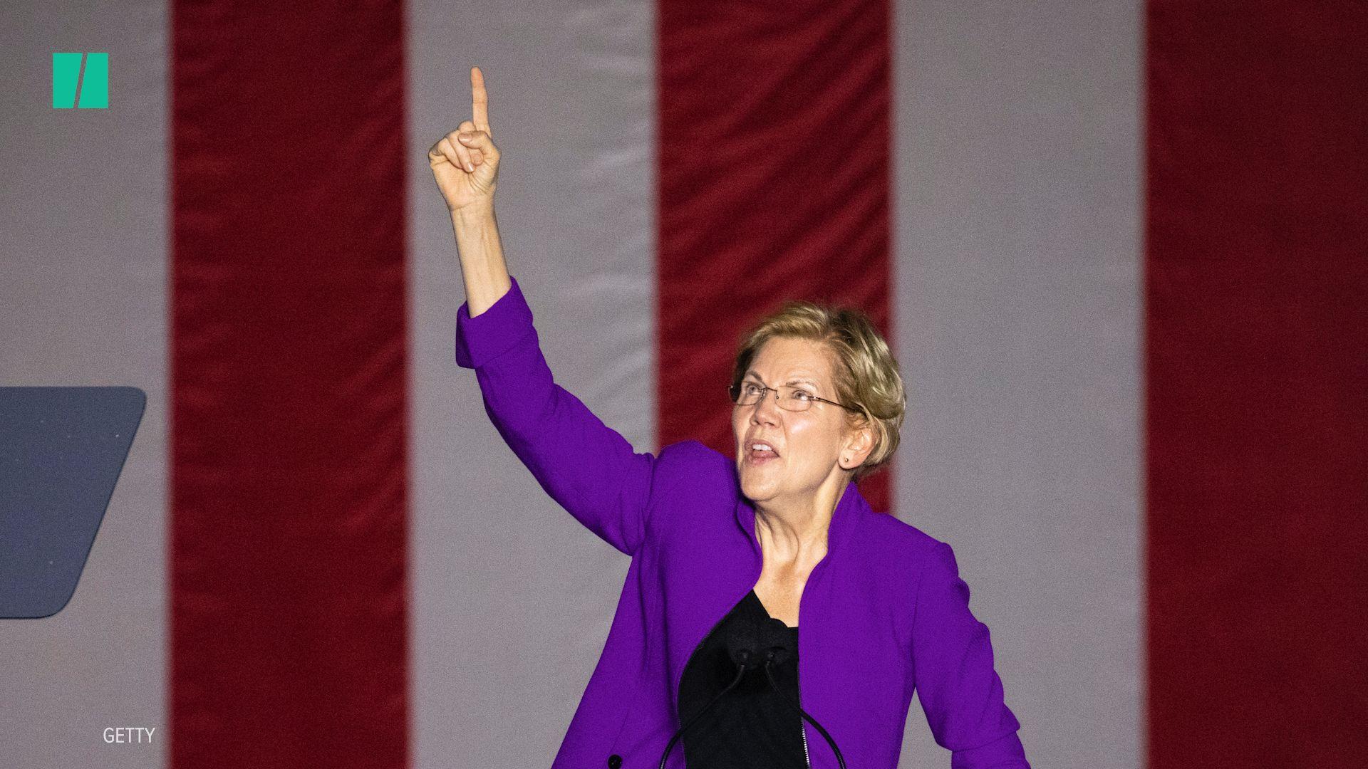 2020 Candidate Elizabeth Warren Tears Into President ...