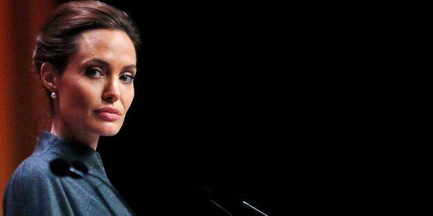 US actress Angelina Jolie, Special Envoy of the United Nations High Commissioner for Refugees, attends...