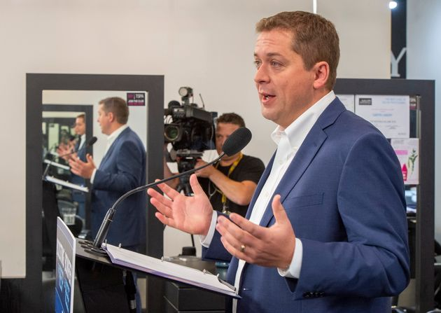 Conservative Leader Andrew Scheer makes an announcement in Winnipeg on Tuesday. The Tories say they'll...