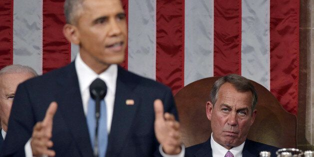 President Barack Obama delivers his State of the Union address to a joint session of Congress on Capitol...