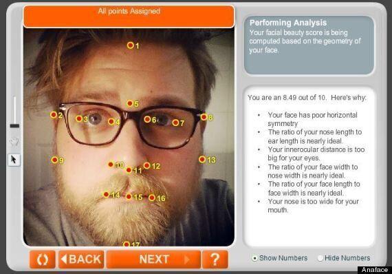 당신 얼굴의 매력지수를 알려주는 사이트,