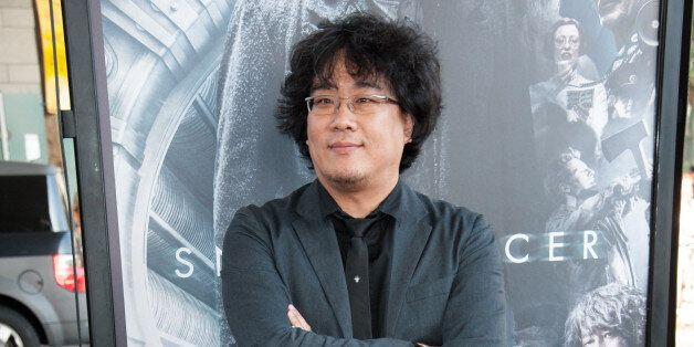 Director Bong Joon-ho arrives at the Los Angeles Film Festival Opening Night Gala