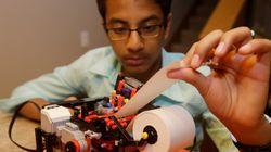 레고로 점자 프린터를 만든 소년(사진,