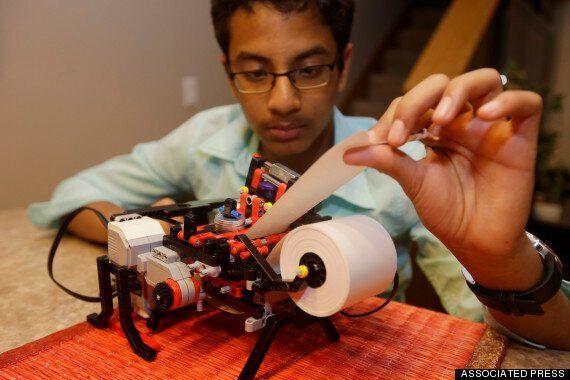 인도계 13세 소년이 레고로 만든 점자 프린터...인텔도