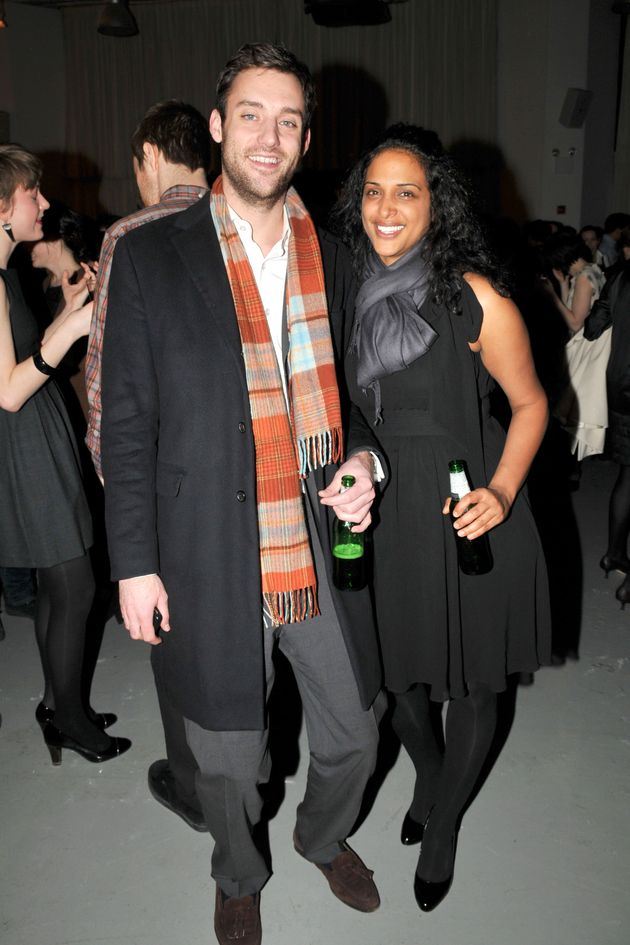 Cooke Maroney and Vanessa Riding attend an after-party at Bar 2000 on March 6, 2009 in New York