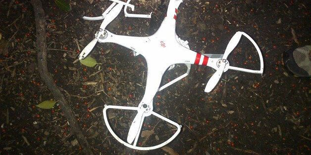 This handout photo provided by the US Secret Service shows the drone that crashed onto the White House...