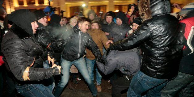 Supporters and opponents of Russian opposition activist and anti-corruption crusader Alexei Navalny clash...
