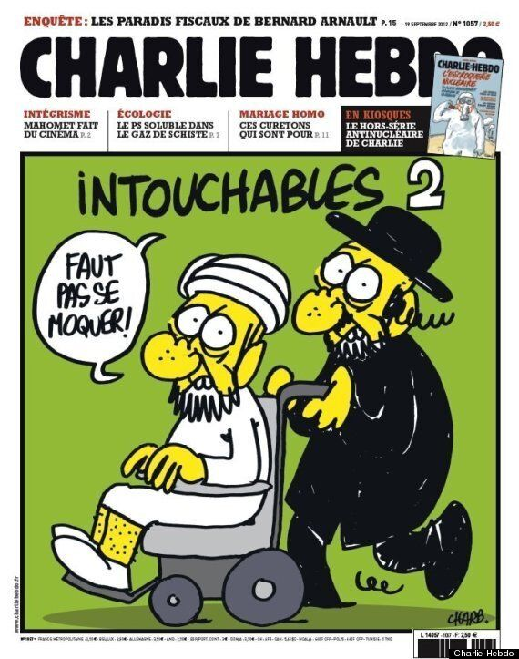 테러범들이 저격한 샤를리 엡도의 만평들