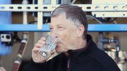 빌 게이츠가 사람의 똥을 정화한 물을 마신다