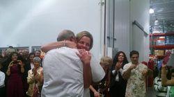 코스트코에서 결혼식을 한 커플