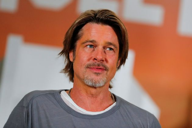 Brad Pitt poses for a picture in Beverly Hills, California, on July 11,