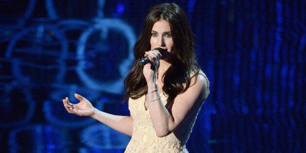 FILE - This March 2, 2014 file photo shows Idina Menzel performing during the Oscars at the Dolby Theatre...