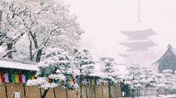 눈이 내린 천년의 도시