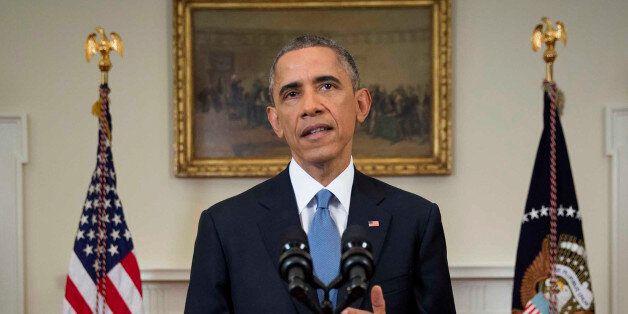 U.S. President Barack Obama speaks during an announcement in Washington, D.C., U.S., on Wednesday, Dec....