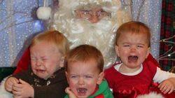 어떤 아이들은 산타를 싫어한다!(사진