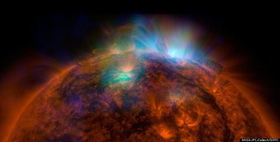 나사의 우주망원경 뉴스타로 찍은 놀라운 태양 엑스레이 사진이