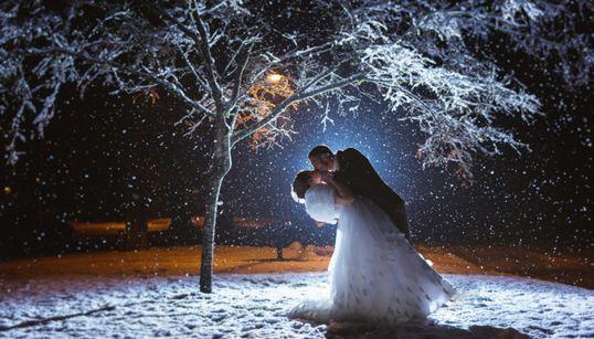 마음을 따뜻하게 만드는 겨울 결혼사진