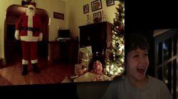 산타가 선물을 주는 장면을 목격했다!