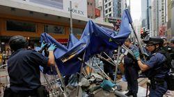 홍콩 시위의 마지막 캠프가 철거됐다
