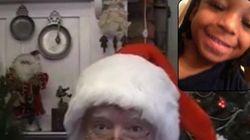 산타와 화상채팅을 하고