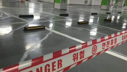 [허핑턴포스트코리아 단독] 제2롯데월드 지하주차장 대규모 '균열'