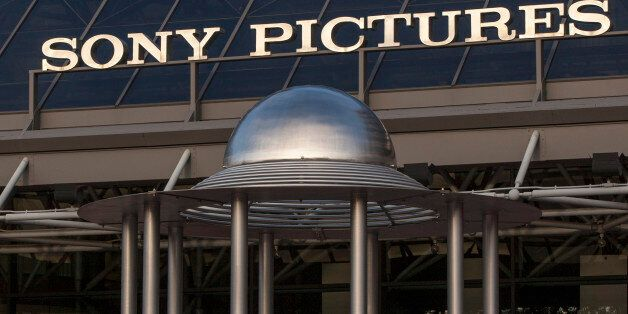 An exterior view of the Sony Pictures Plaza building is seen in Culver City, Calif., Friday, Dec. 19,...