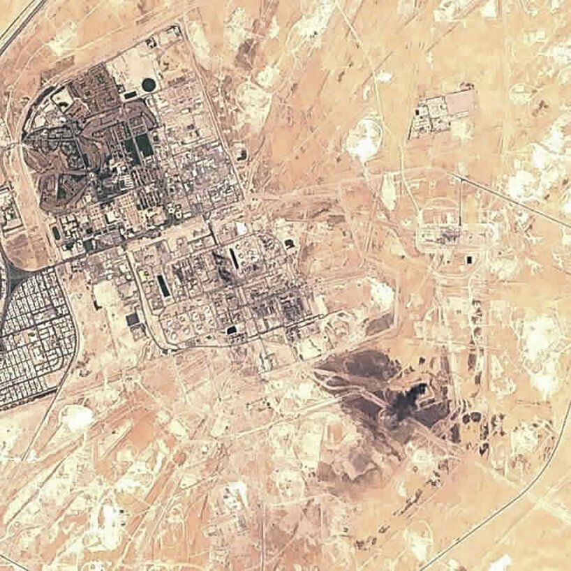 Οι πρώτες φωτογραφίες από τις πετρελαϊκές εγκαταστάσεις στη Σαουδική Αραβία που δέχθηκαν