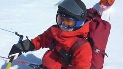 연으로 조종하는 스키를 타고 남극점에