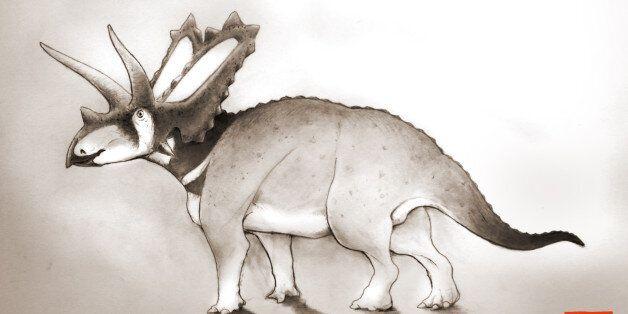 과학자들이 박물관에서 새로운 공룡을
