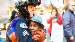 '희망'을 보여준 흑인 소년과 백인 경찰관의