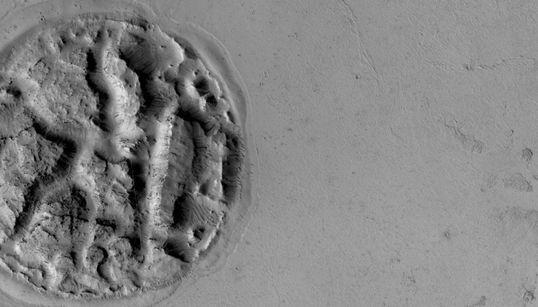 화성의 '와플'은 용암의