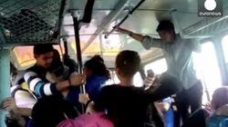 버스 안 성추행범과 맞서 싸운