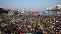 바다의 플라스틱 쓰레기, 무려