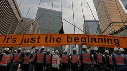 홍콩 경찰, 시위대 캠프 철거