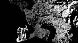 혜성 탐사로봇 필레, 첫 사진