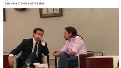 Pablo Iglesias aclara lo que está ocurriendo en esta foto con Albert