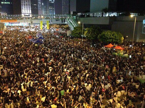 [르포] 홍콩 '우산혁명' 시위대에